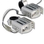 "SPOTLIGHTS ""HIGH TECH"" Stylish Auxiliary Lighting Kit With ""Bash Plate"" (1 Pair 55w) Silver"